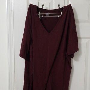 Lane Bryant Wine Color TShirt, Size 26/28